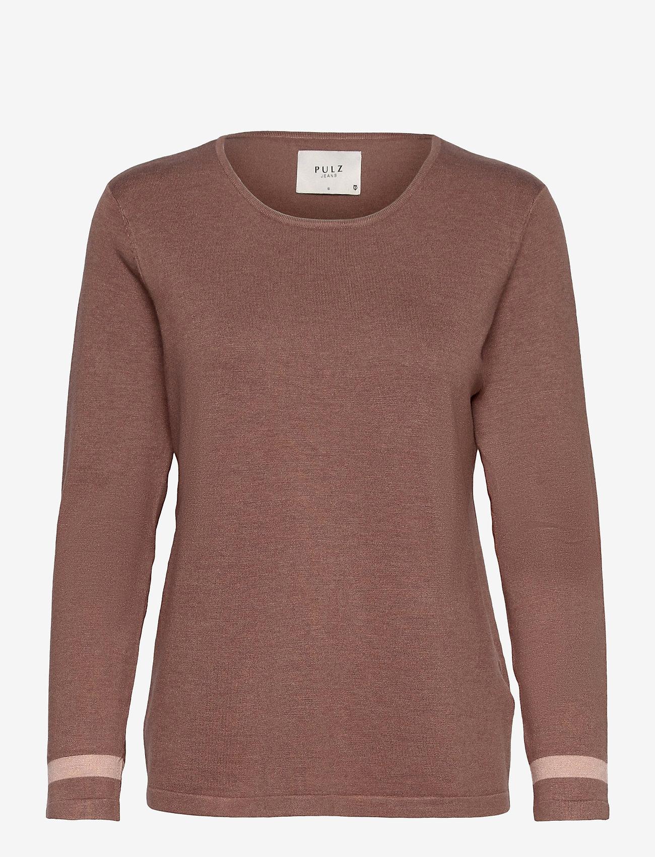 Pulz Jeans - PZSARA Pullover - trøjer - brownie melange - 0