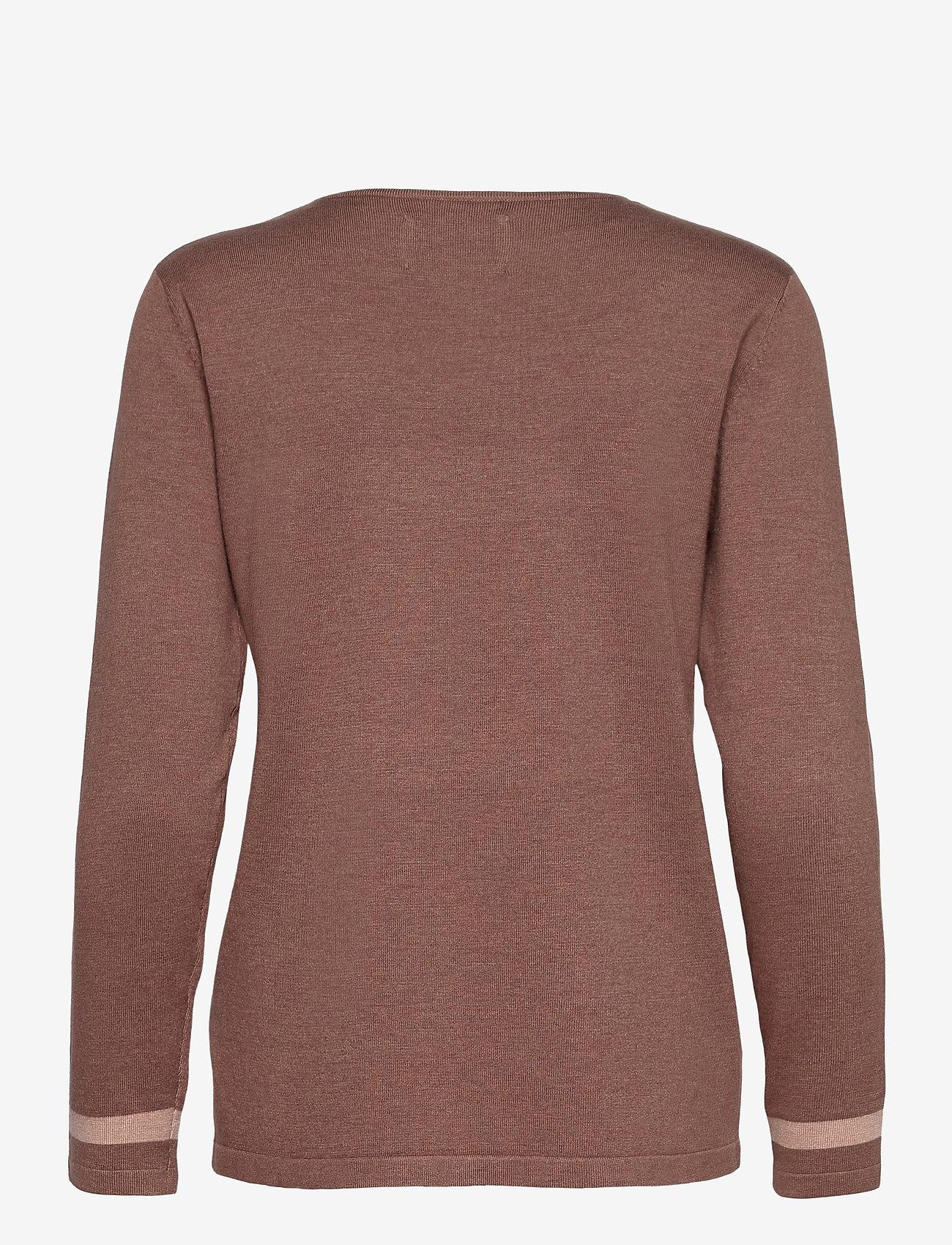 Pulz Jeans - PZSARA Pullover - trøjer - brownie melange - 1