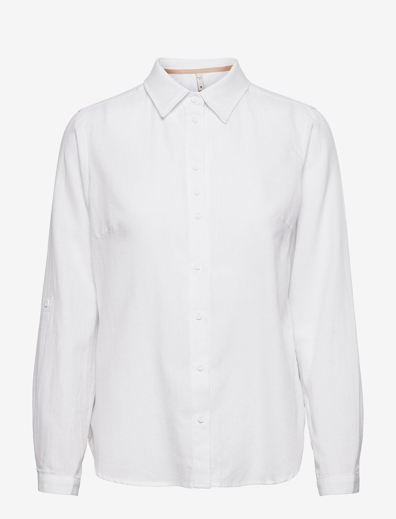 Pulz Jeans - PZANITA Shirt - langærmede skjorter - bright white - 0