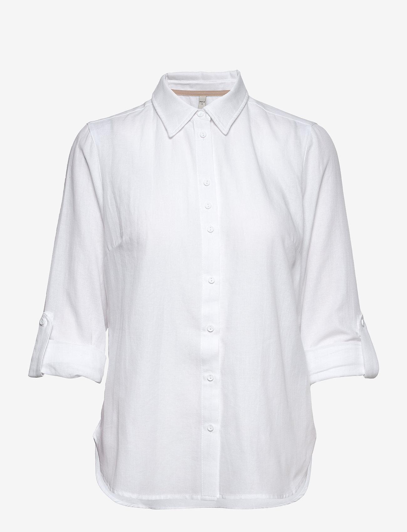 Pulz Jeans - PZANITA Shirt - langærmede skjorter - bright white - 1