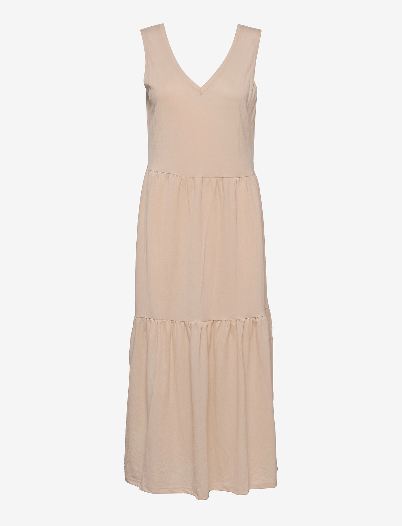Pulz Jeans - PZAMELIA Dress Long MIX&MATCH - sommerkjoler - irish cream - 0