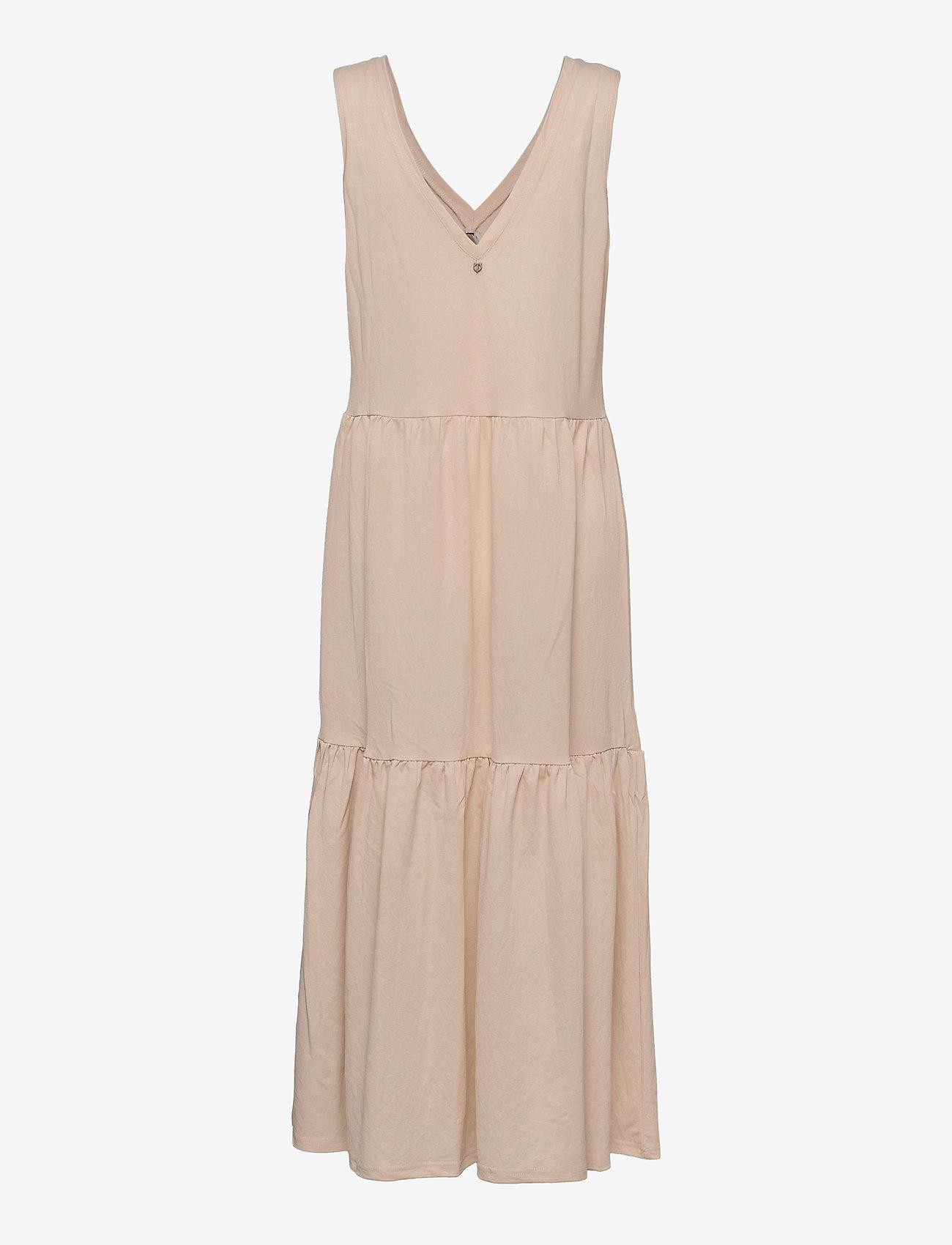 Pulz Jeans - PZAMELIA Dress Long MIX&MATCH - sommerkjoler - irish cream - 1