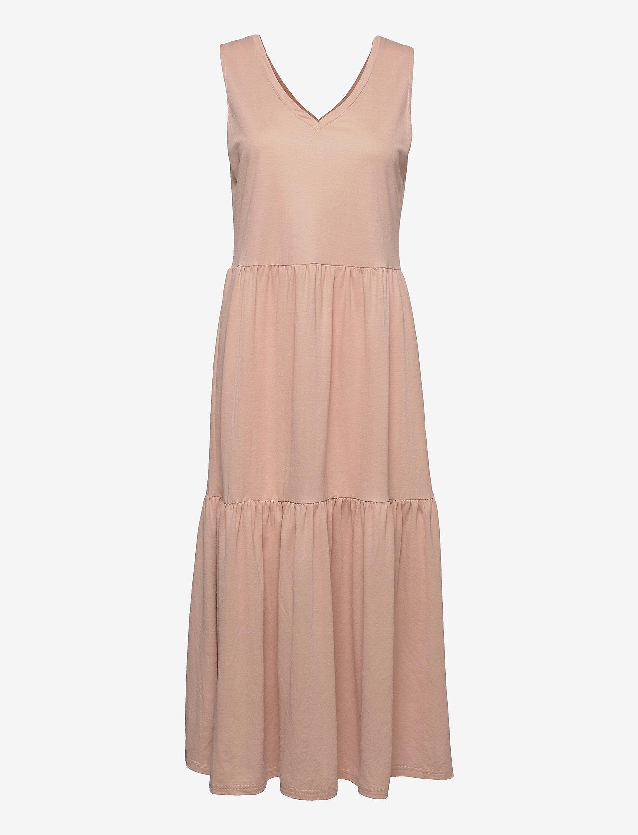 Pulz Jeans - PZAMELIA Dress Long MIX&MATCH - sommerkjoler - mahogany rose - 0
