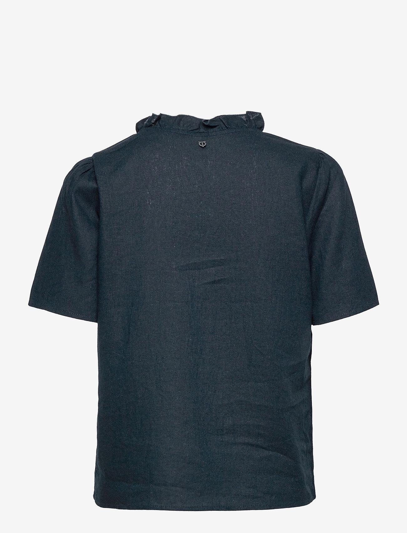 Pulz Jeans - PZBIANCA Blouse - kortærmede bluser - dark sapphire - 1