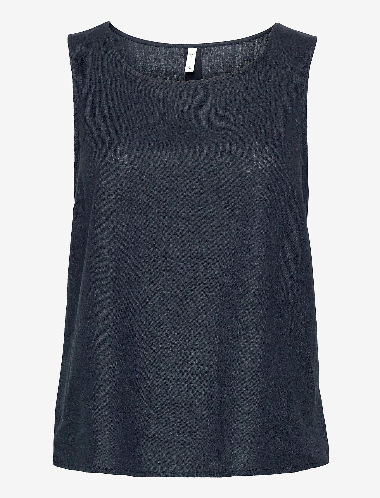 Pulz Jeans - PZBIANCA Top - Ærmeløse bluser - dark sapphire - 0