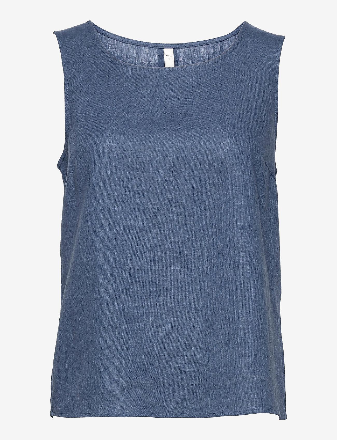 Pulz Jeans - PZBIANCA Top - Ærmeløse bluser - vintage indigo - 0