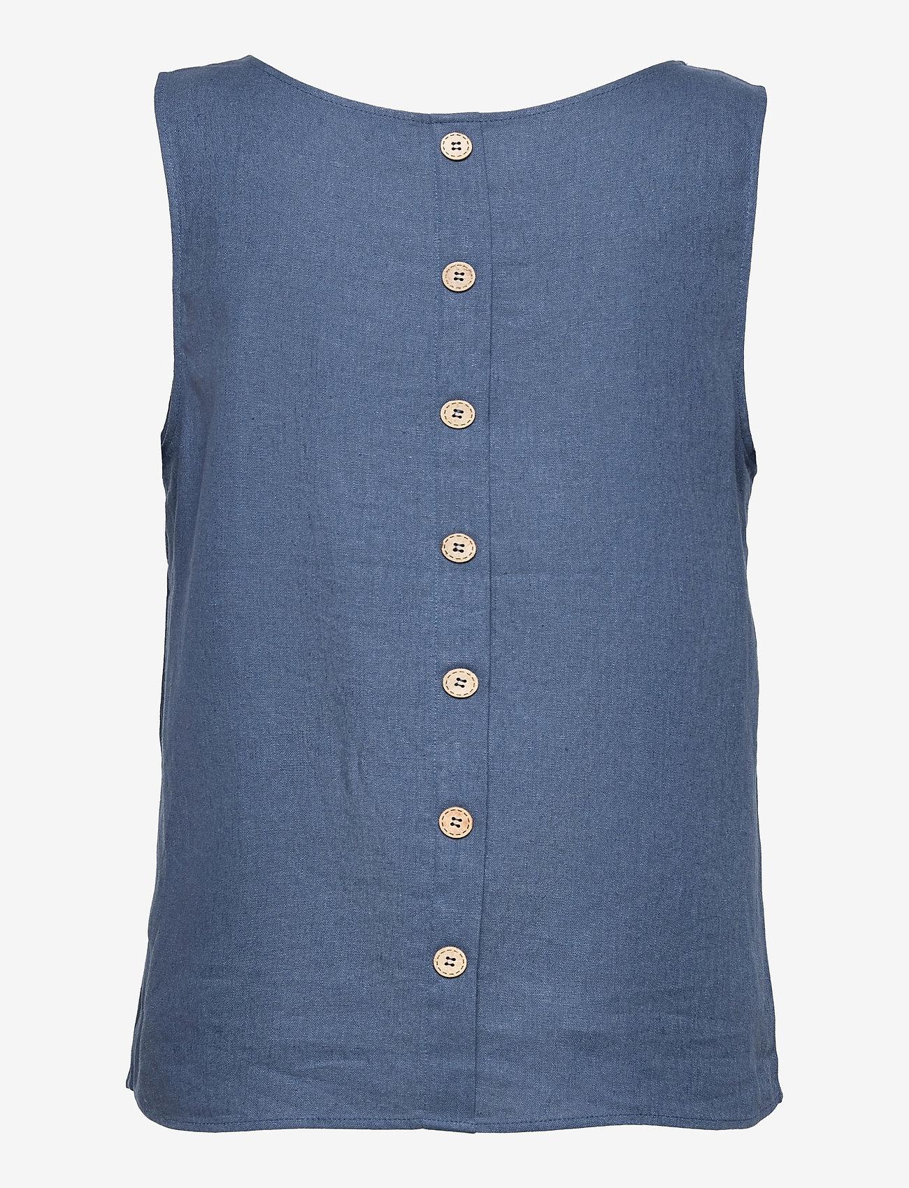 Pulz Jeans - PZBIANCA Top - Ærmeløse bluser - vintage indigo - 1