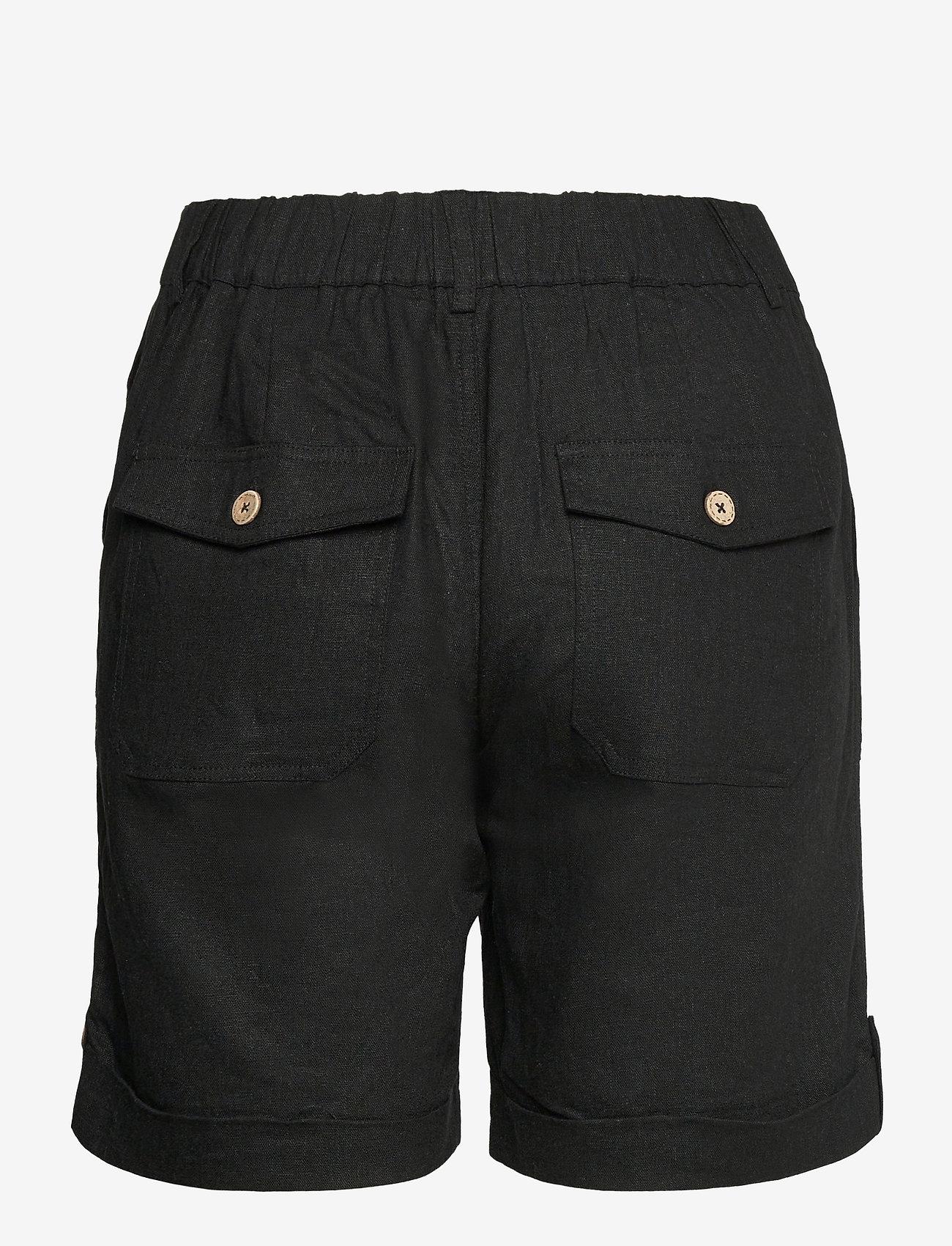 Pulz Jeans - PZBIANCA Shorts - short chino - black beauty - 1