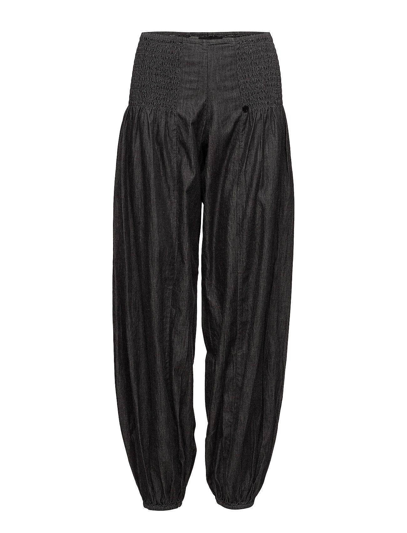 dfa8207fda0 Jill Wide Denim Pant casual Bukser fra PULZ til dame i BLACK SOLID ...