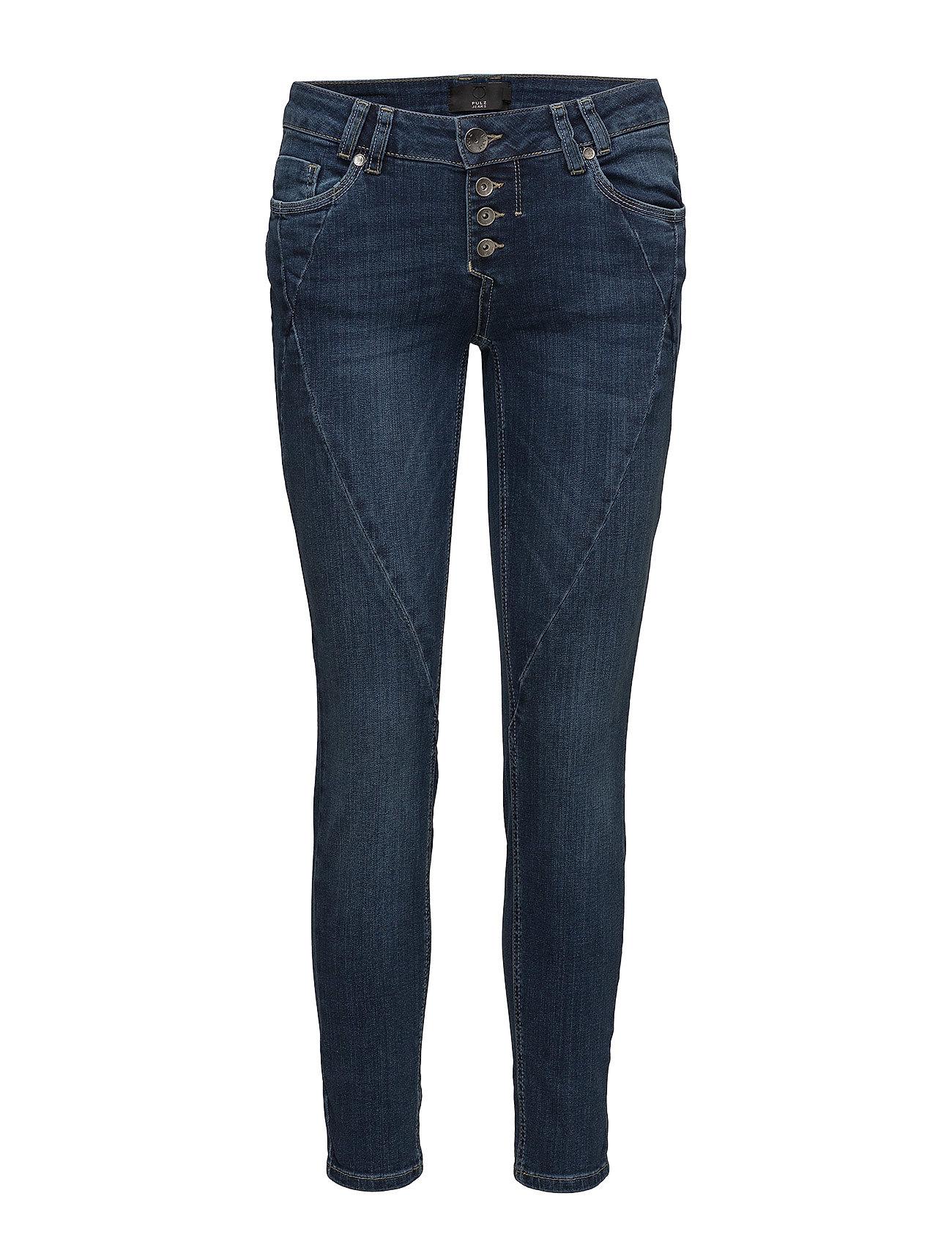 Pulz Jeans Rosita Midtwaist Ankle - MEDIUM BLUE DENIM