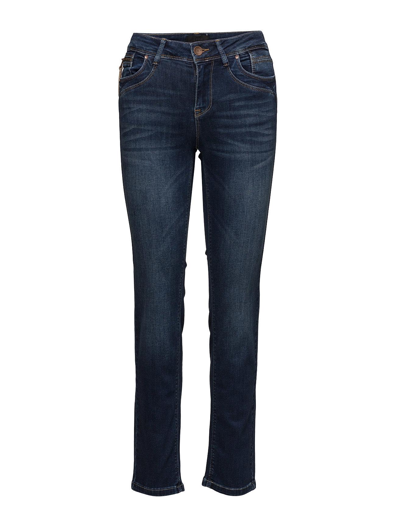 Straight Karolina DenimPulz 'medium Jeans Highwaist Blue 3A54RqjL