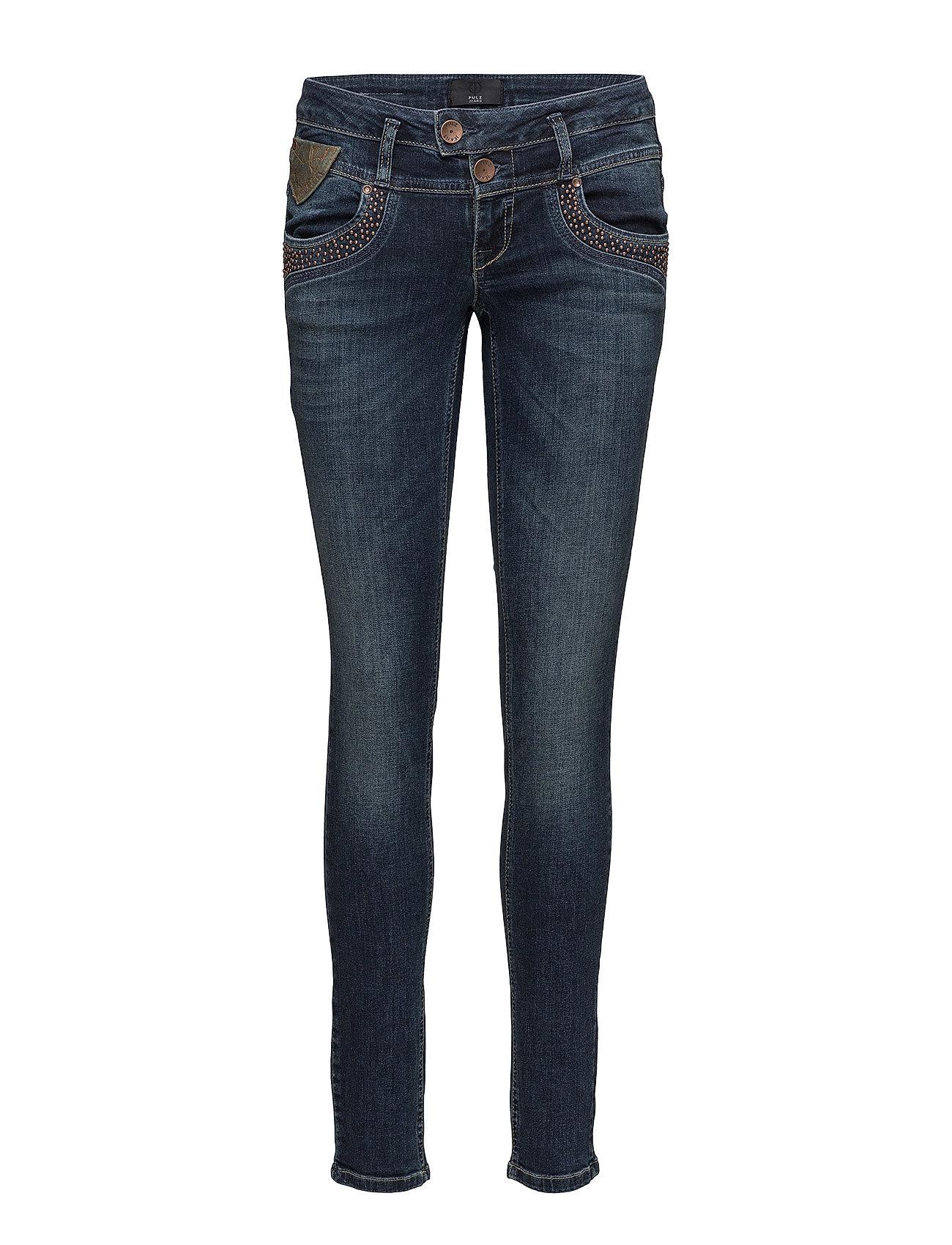 Pulz Jeans Anett Midwaist Skinny - DARK BLUE DENIM