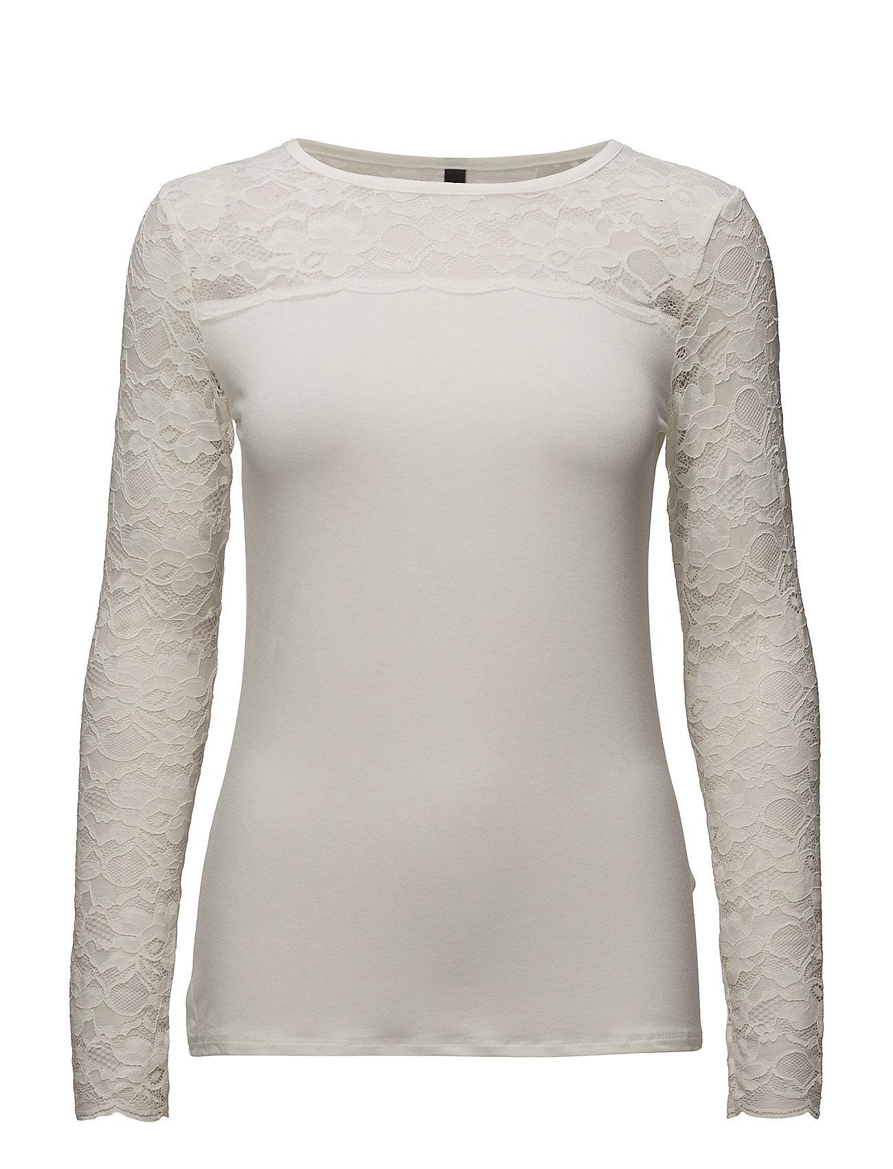 Pulz Jeans Trisse L/S T-shirt - SOFT CREAM