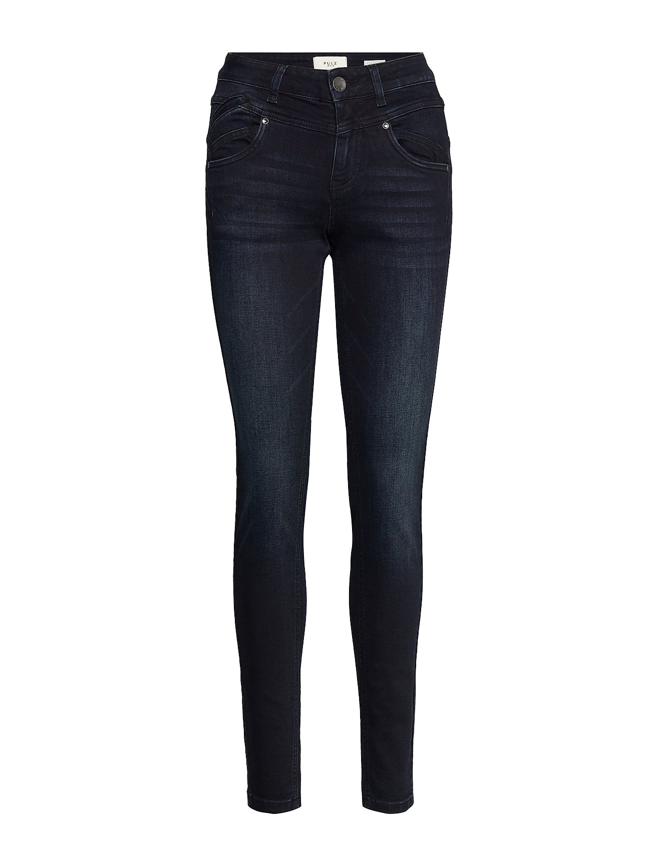 Pulz Jeans Carmen Highwaist skinny - DARK BLUE DENIM