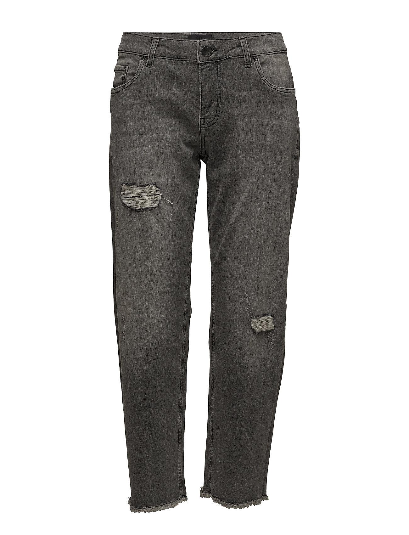 Pulz Jeans Katia Regular Straight Ankle Lenght - BLACK DENIM