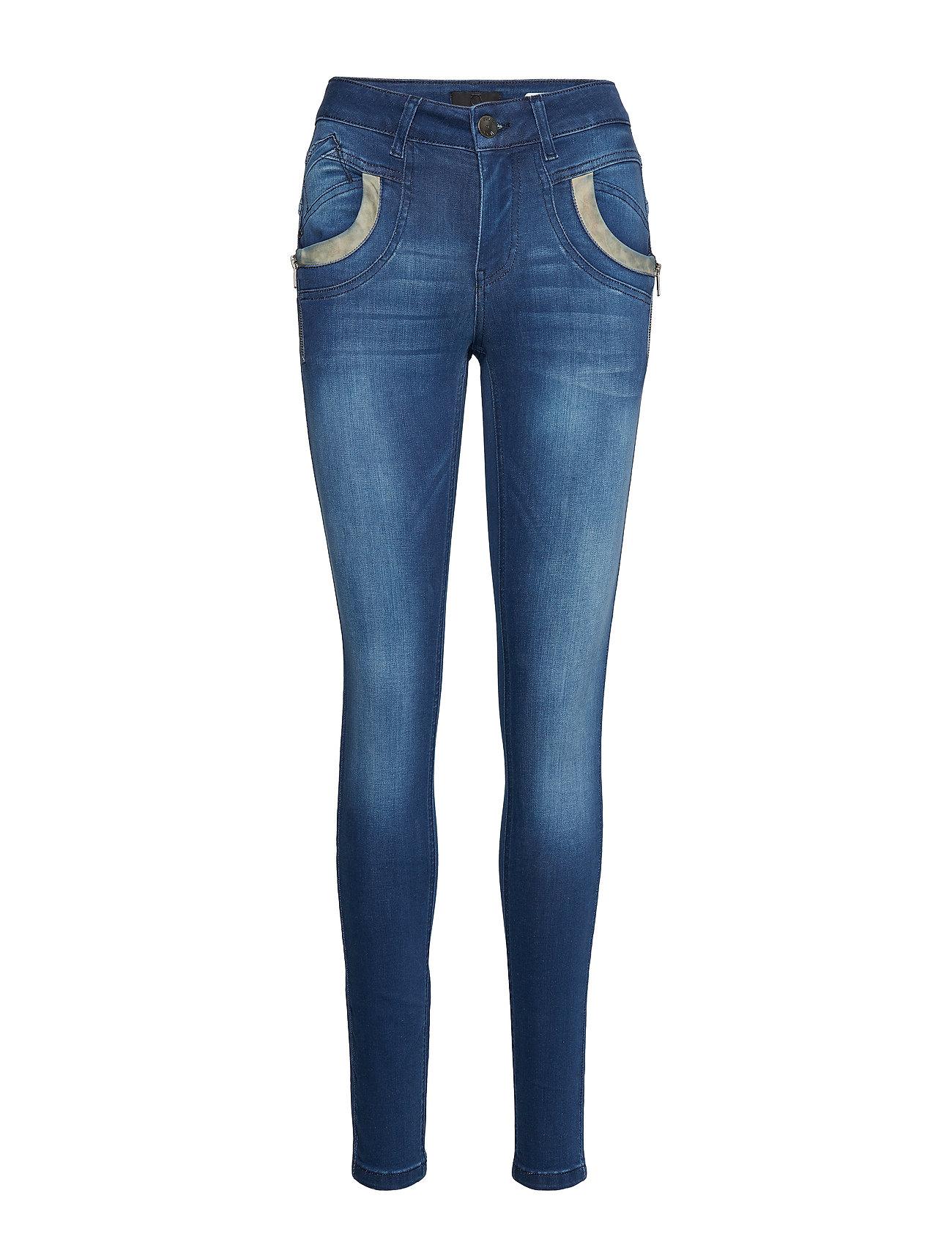 Pulz Jeans Carmen Highwaist Skinny - MEDIUM BLUE DENIM