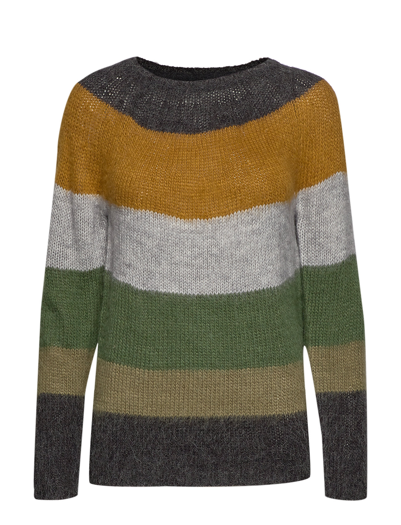 Pulz Jeans PZGISELLE Striped Pullover - CROCODILE GREEN