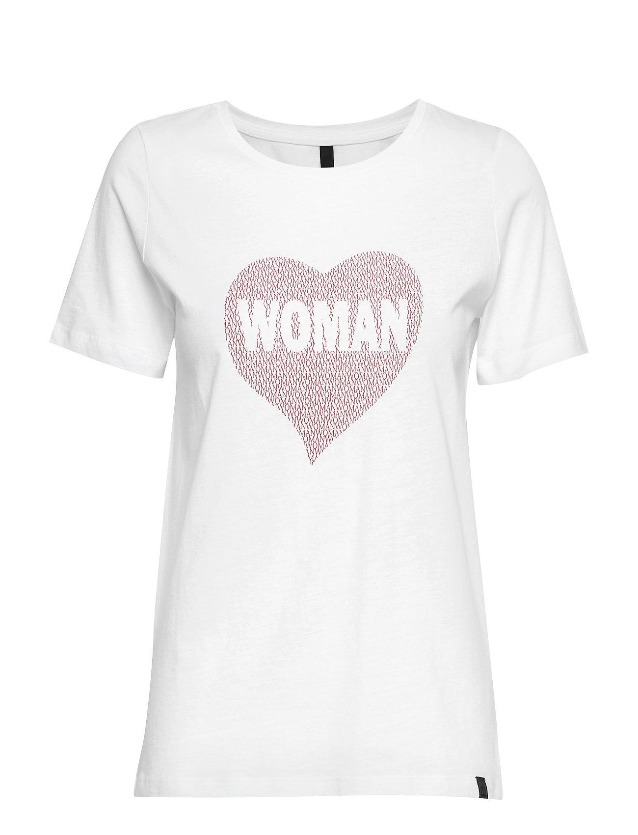 Pulz Jeans PZWOMAN S/S T-shirt - OPTICAL WHITE