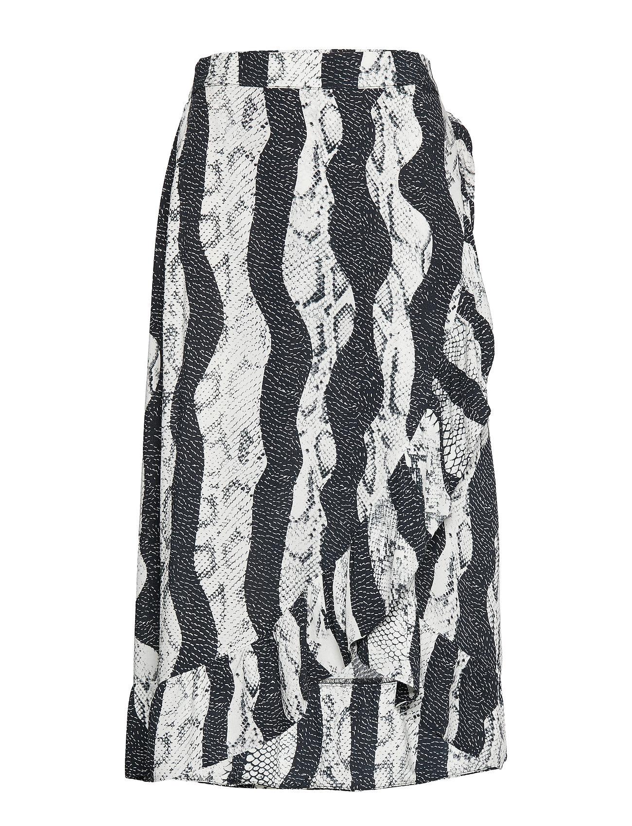 Pulz Jeans PZSNAKE Skirt - JET BLACK