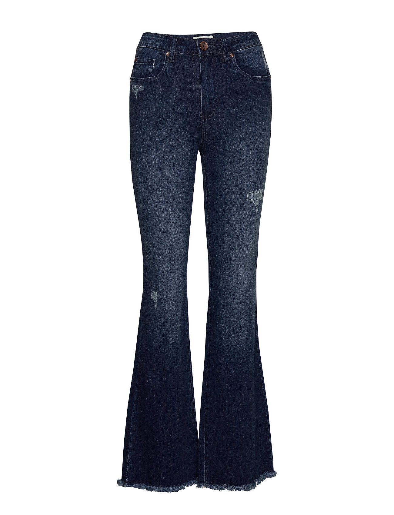 Pulz Jeans PZLIVA Ultra High Flared - DARK BLUE DENIM