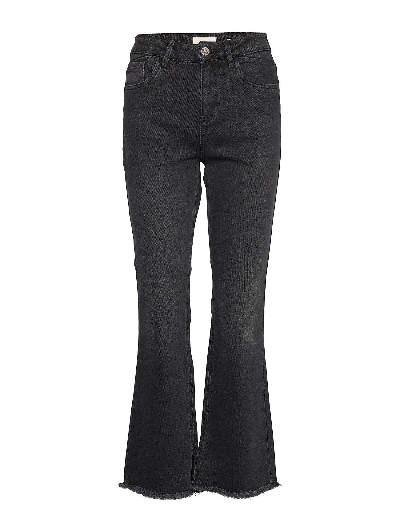 Pulz Jeans PZLIVA Ultra High Waist Flared - BLACK DENIM