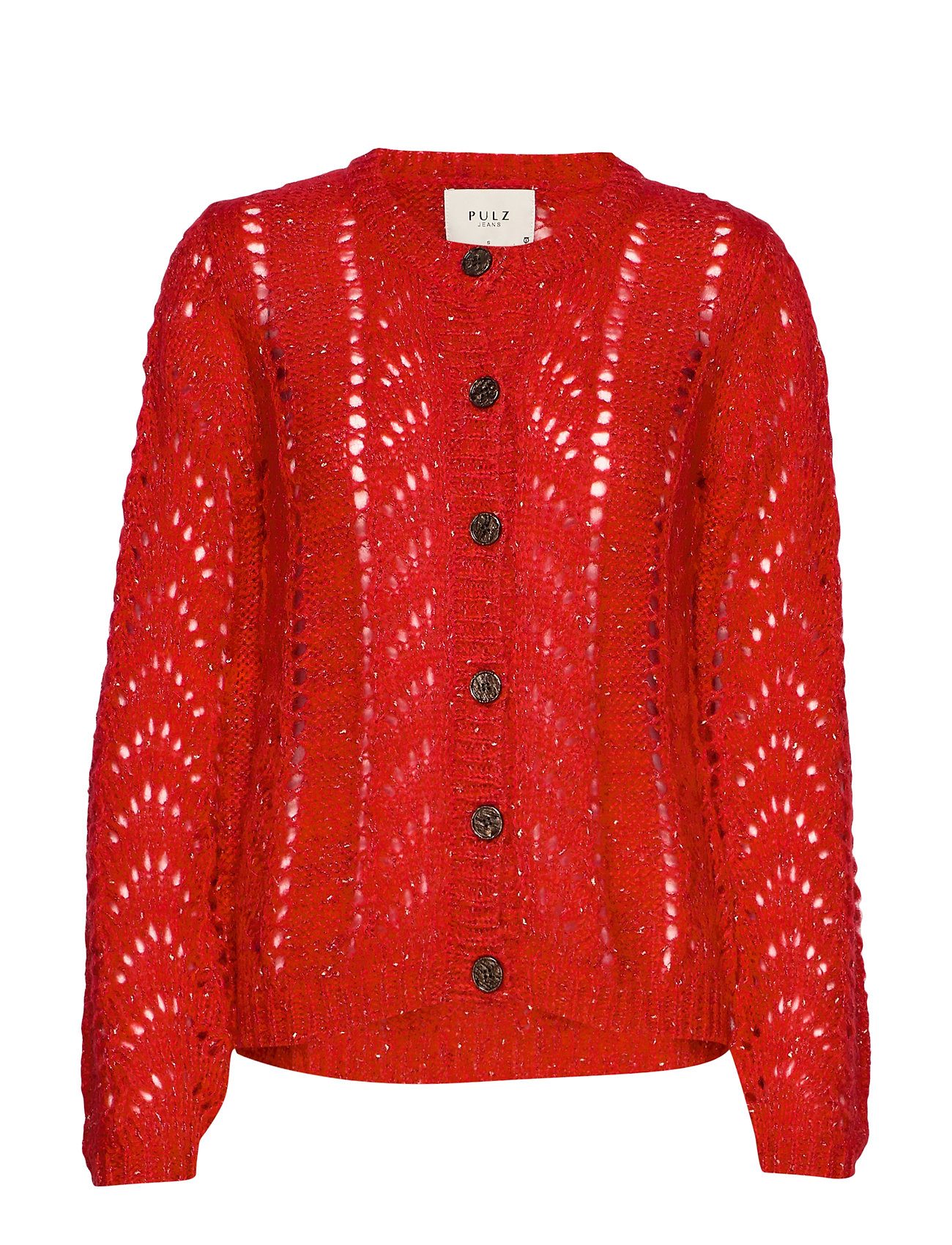 Pulz Jeans PZADELE Cardigan - CHINESE RED