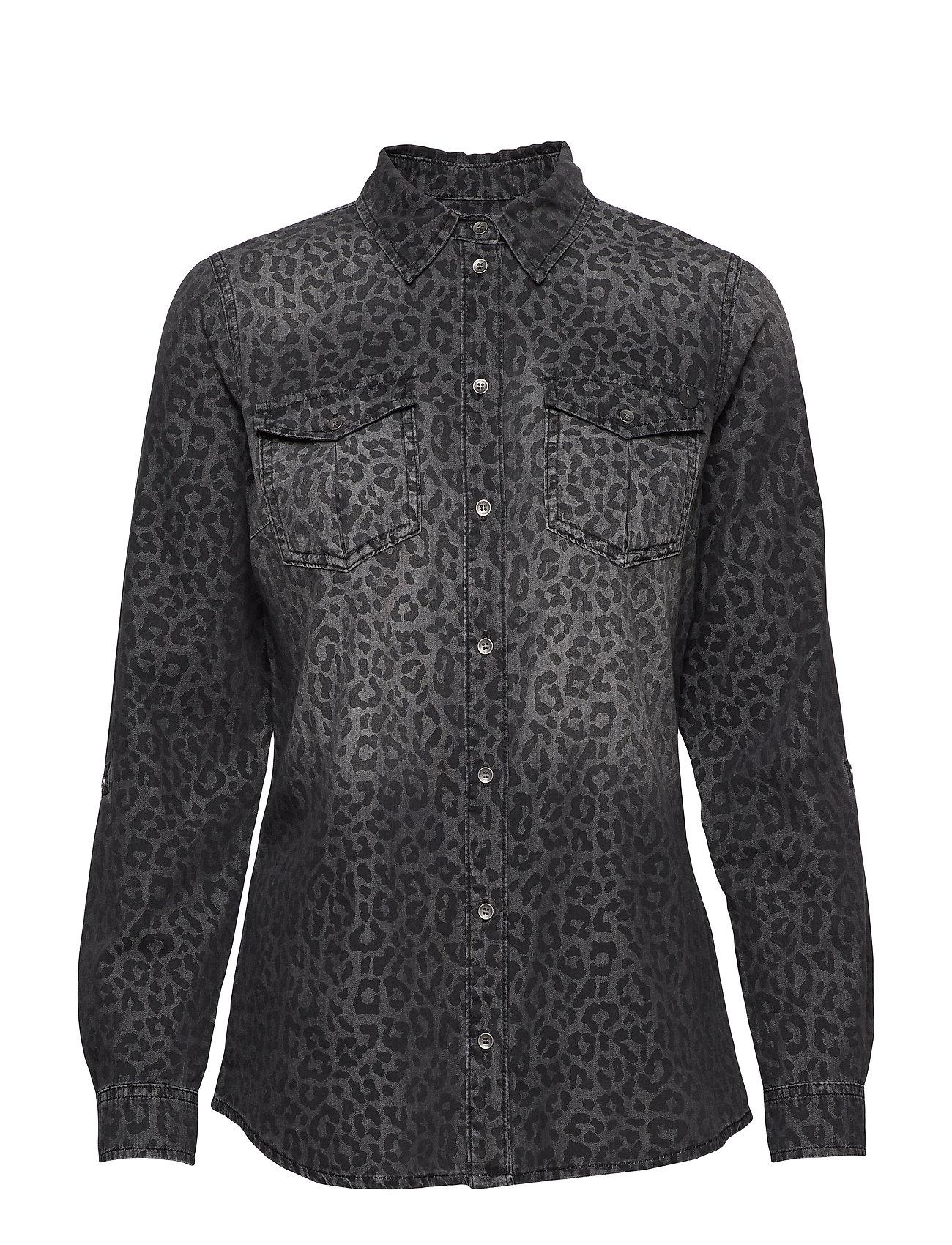 Pulz Jeans PZSAFARI Shirt - GREY DENIM