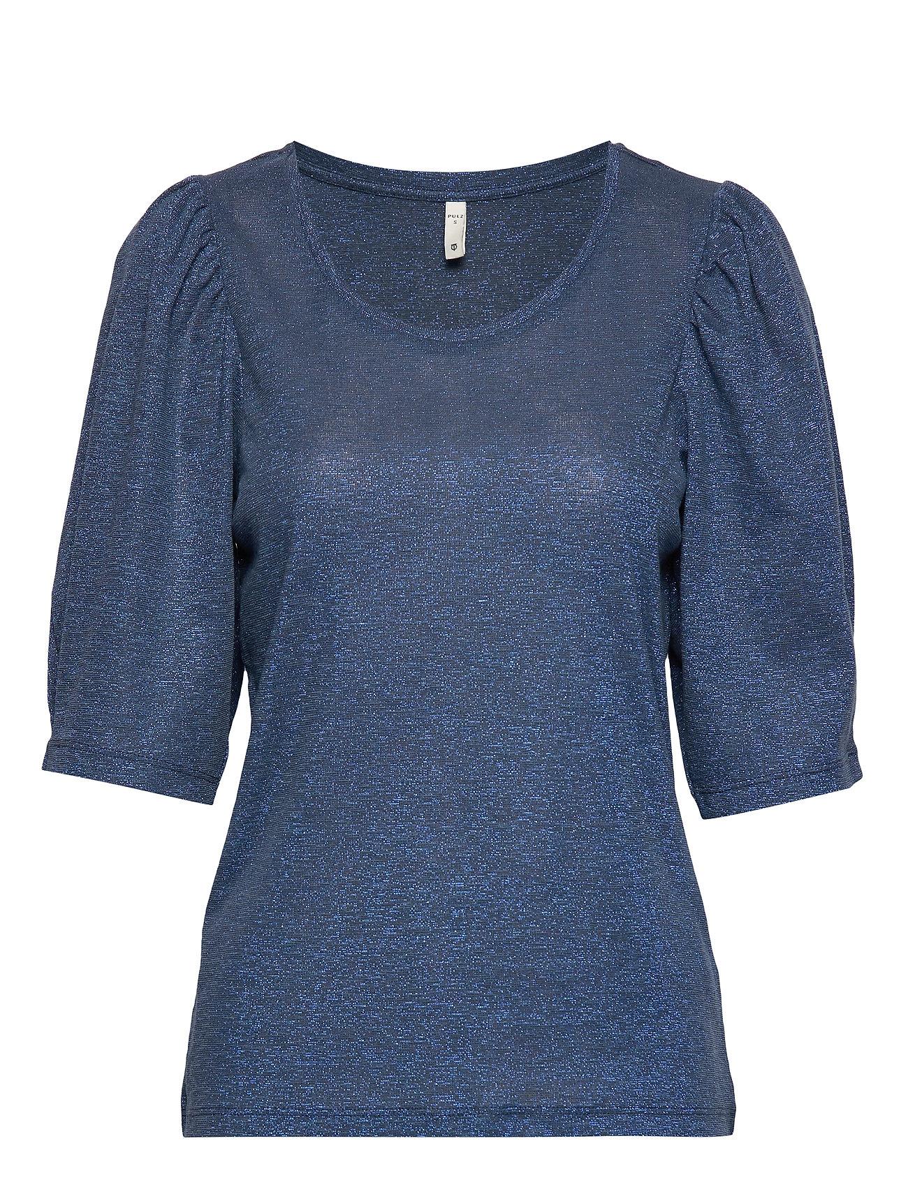 Pulz Jeans PZFRIDAY T-shirt - MIDNIGHT NAVY