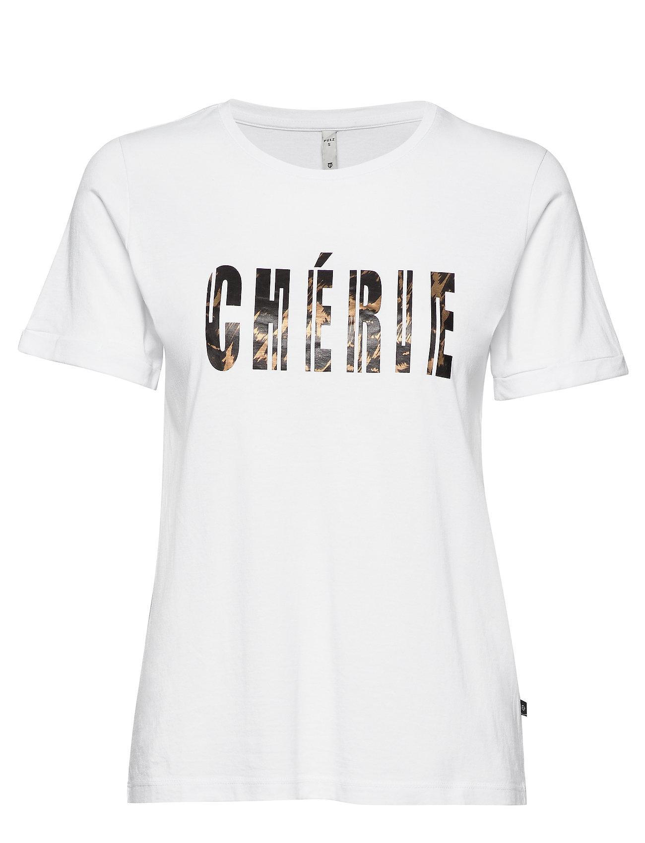 Pulz Jeans PZCHERIE T-shirt - OPTICAL WHITE