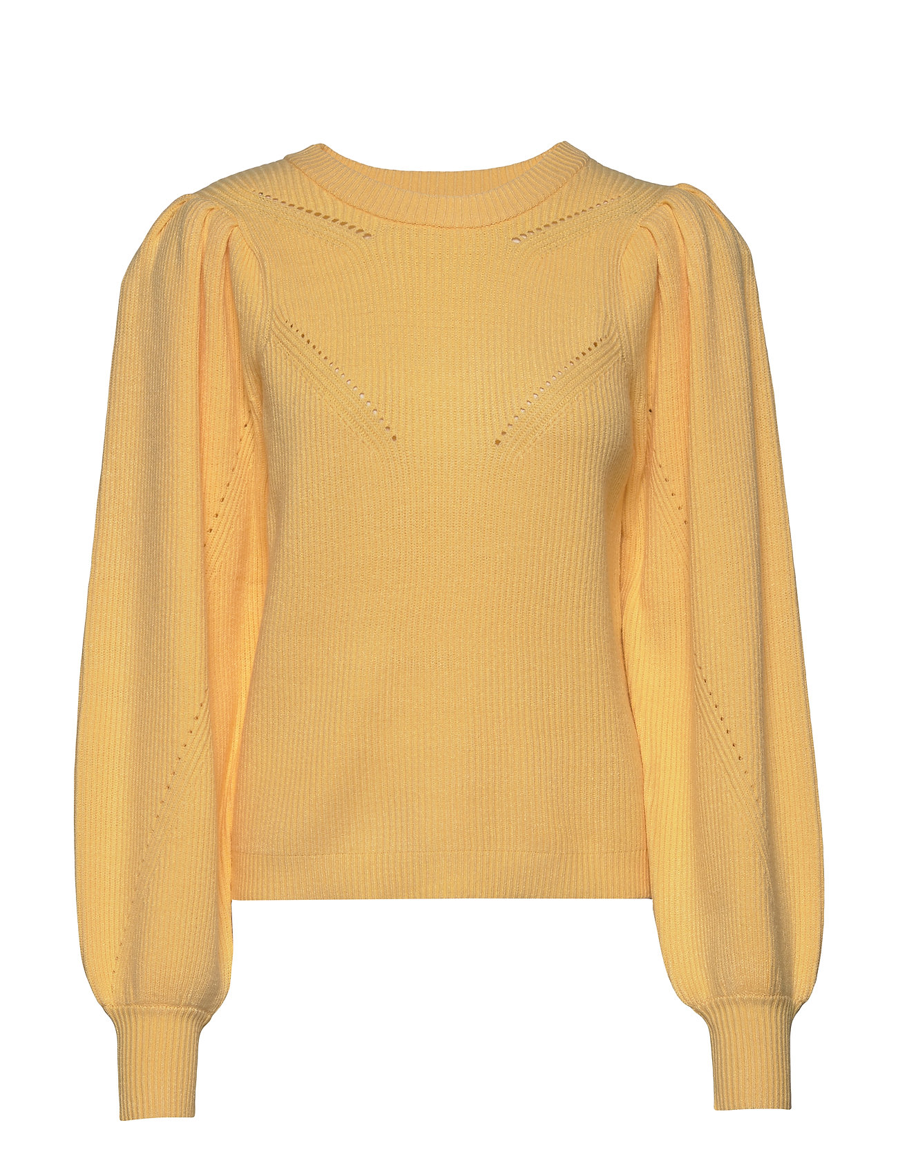 Image of Pzliza Pullover Strikket Trøje Gul Pulz Jeans (3339884539)