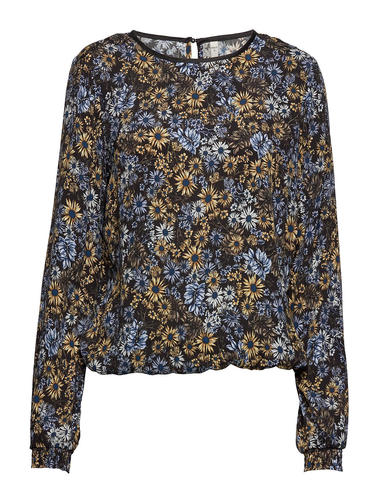 Pulz Jeans PZLOUISE Blouse - BLACK FLOWER