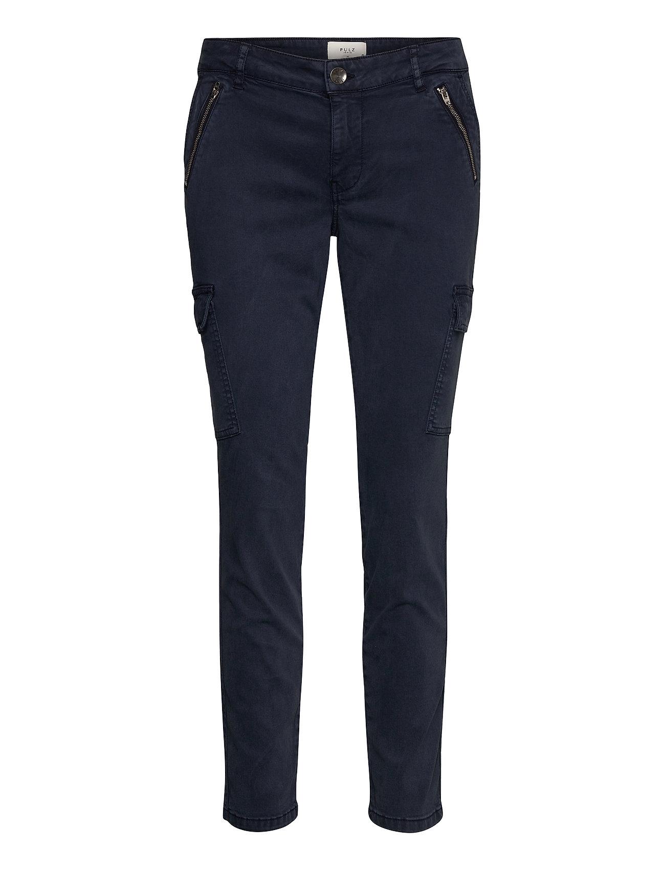 Image of Pxelva Pant Bukser Med Lige Ben Blå Pulz Jeans (3435717901)