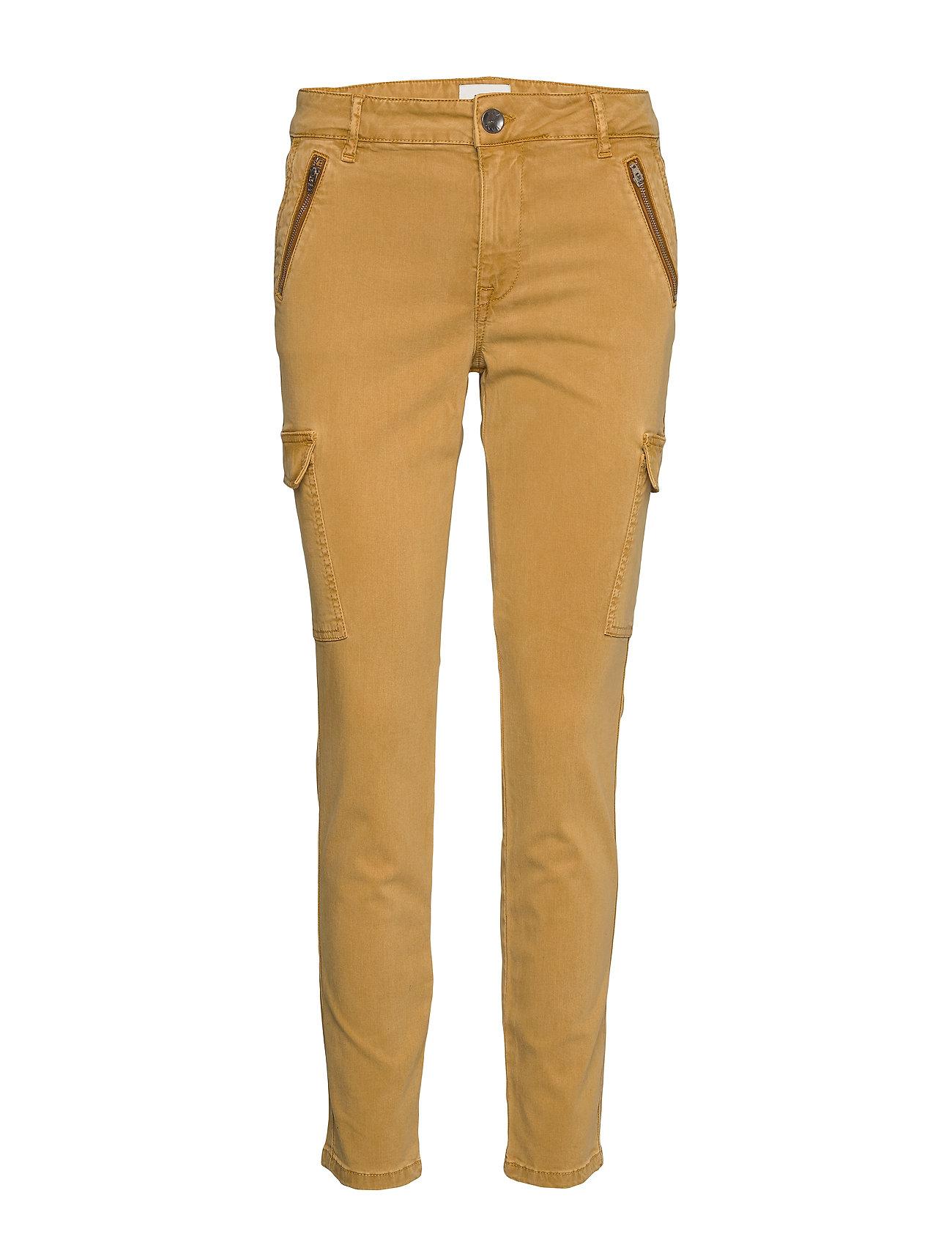 Image of Pxelva Pant Bukser Med Lige Ben Gul Pulz Jeans (3307693441)