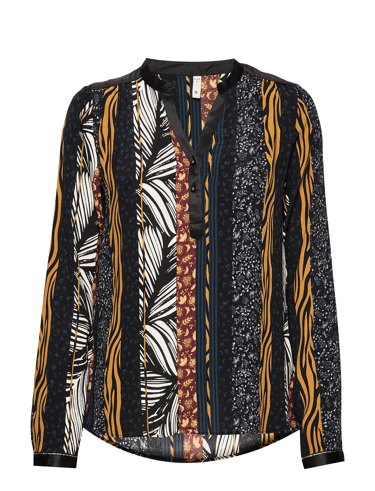 Pulz Jeans PZFLEUR Blouse - BLACK BEAUTY