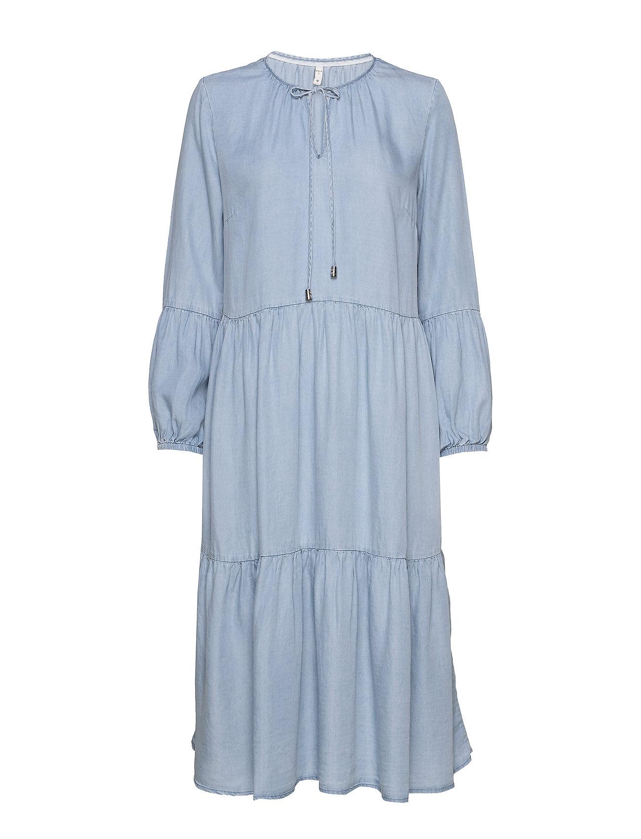 Image of Pzdonatella Dress Knælang Kjole Blå Pulz Jeans (3406307785)