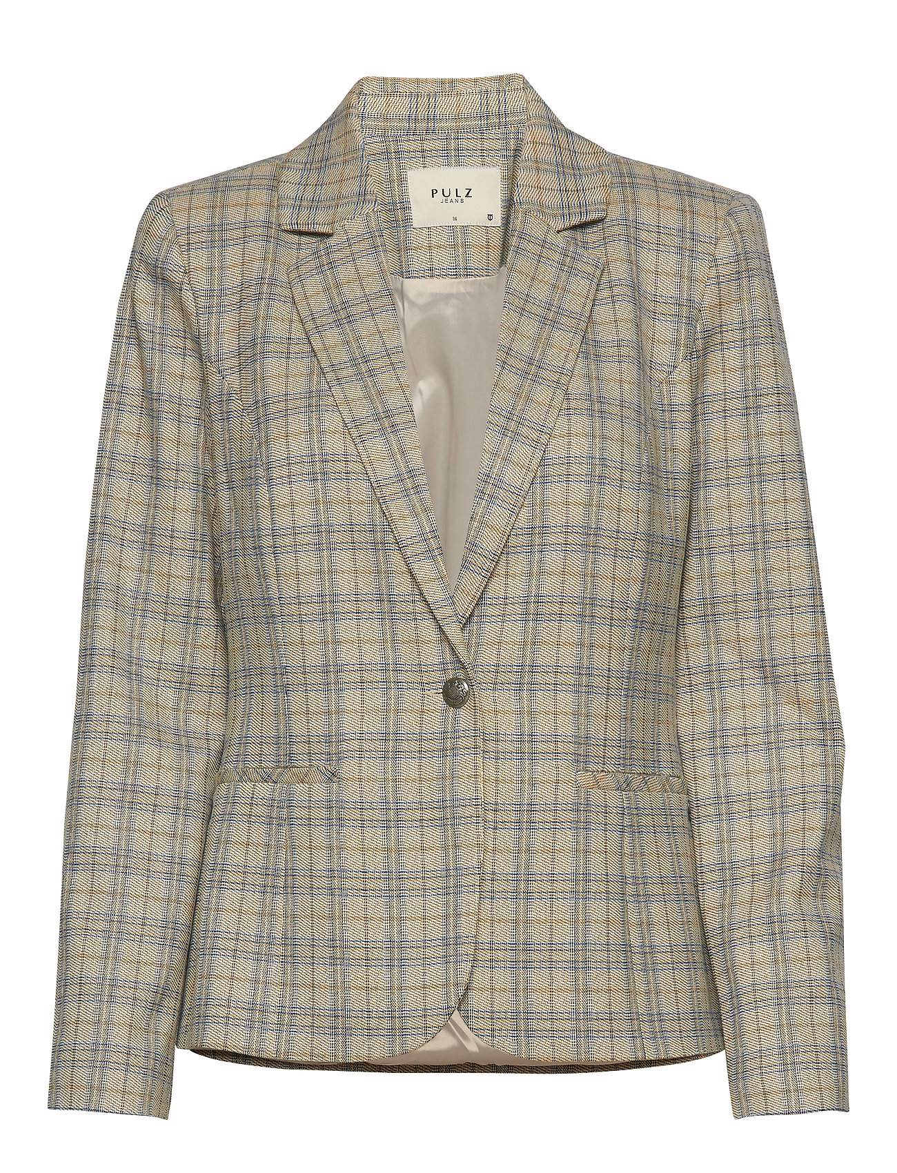 Pulz Jeans PZJULIA Blazer - BLUE YELLOW CHECK