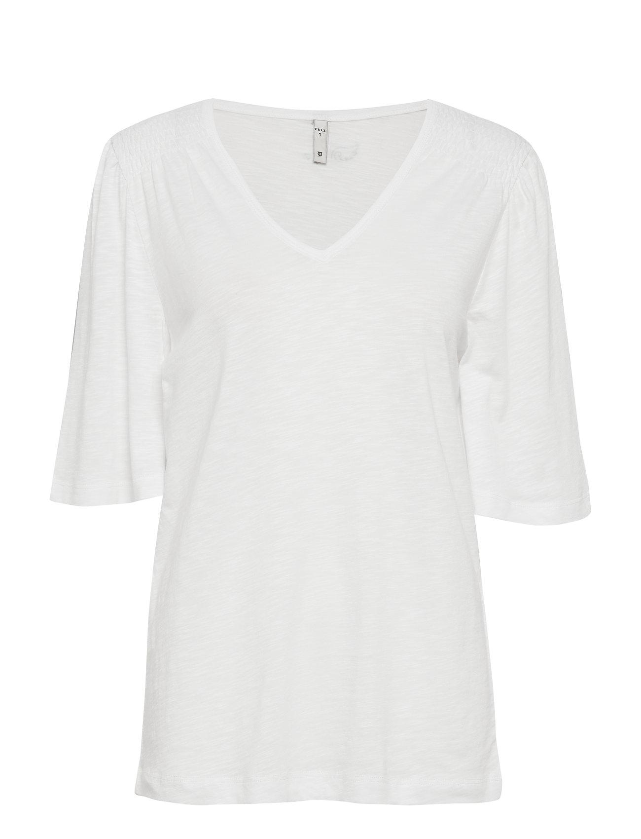 Pulz Jeans PZLERCHE T-shirt - BRIGHT WHITE
