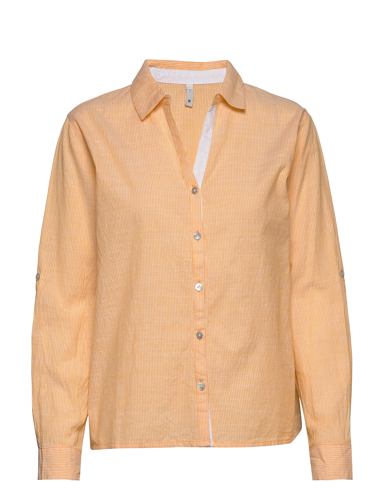 Image of Pzl Shirt Langærmet Skjorte Gul Pulz Jeans (3363496213)