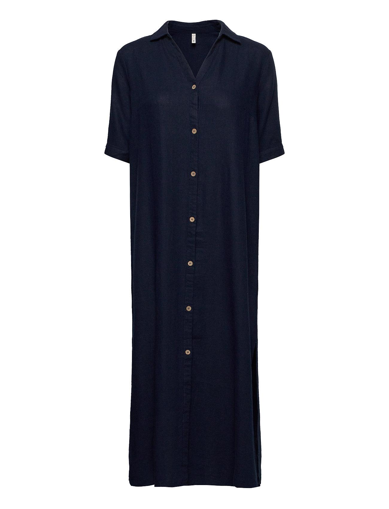 Image of Pzbianca Shirt Knælang Kjole Blå Pulz Jeans (3424648309)