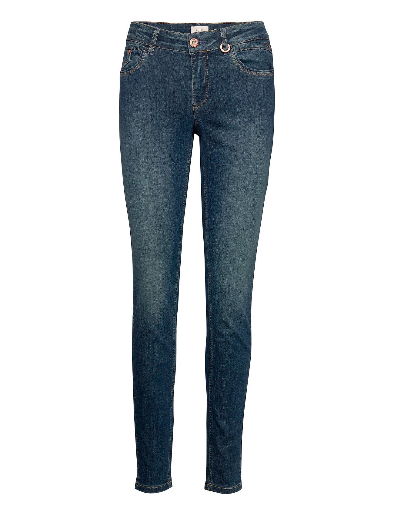 Image of Pzanna Jeans Slim Jeans Blå Pulz Jeans (3441398119)
