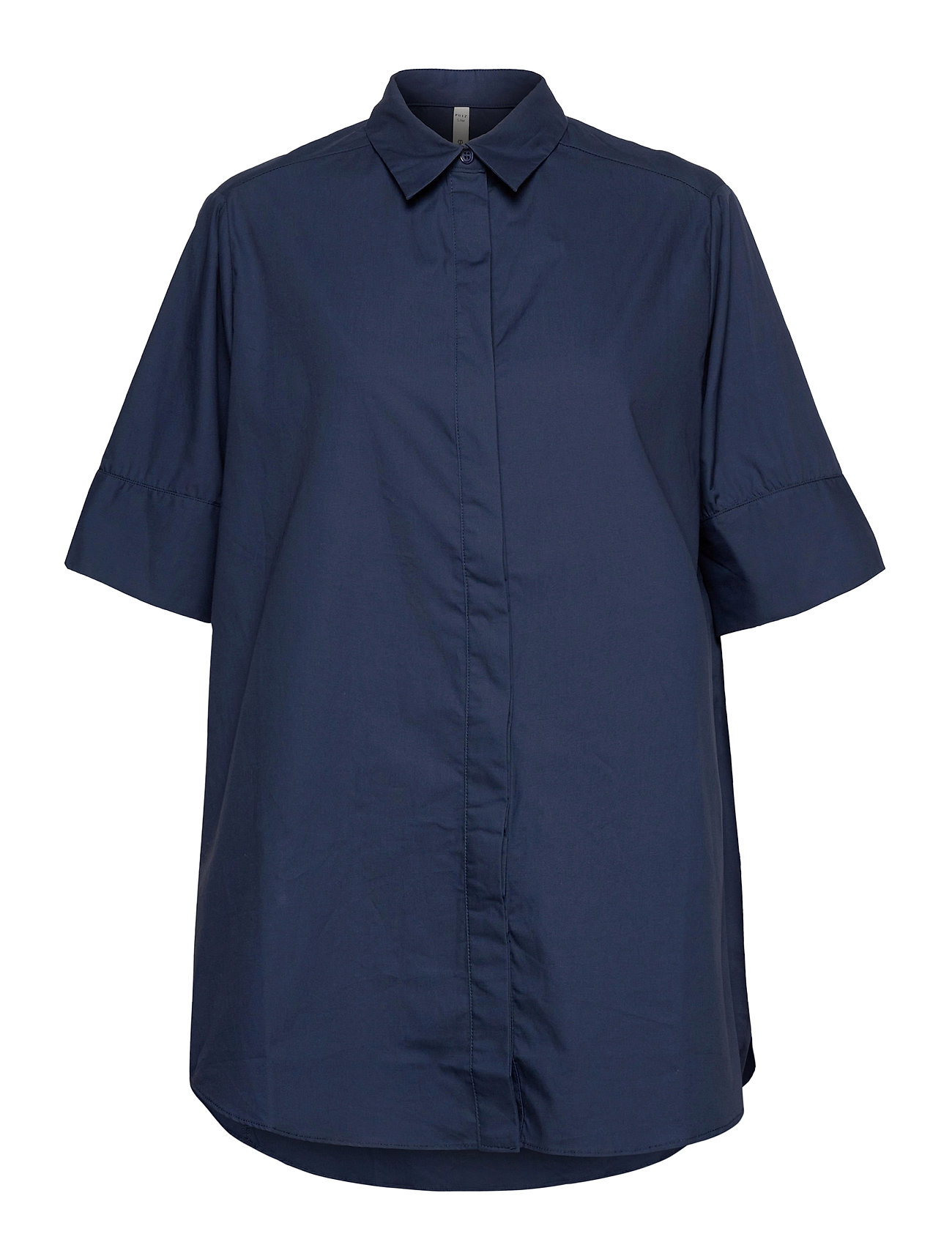Image of Pzwillo Shirt Kortærmet Skjorte Blå Pulz Jeans (3436652773)