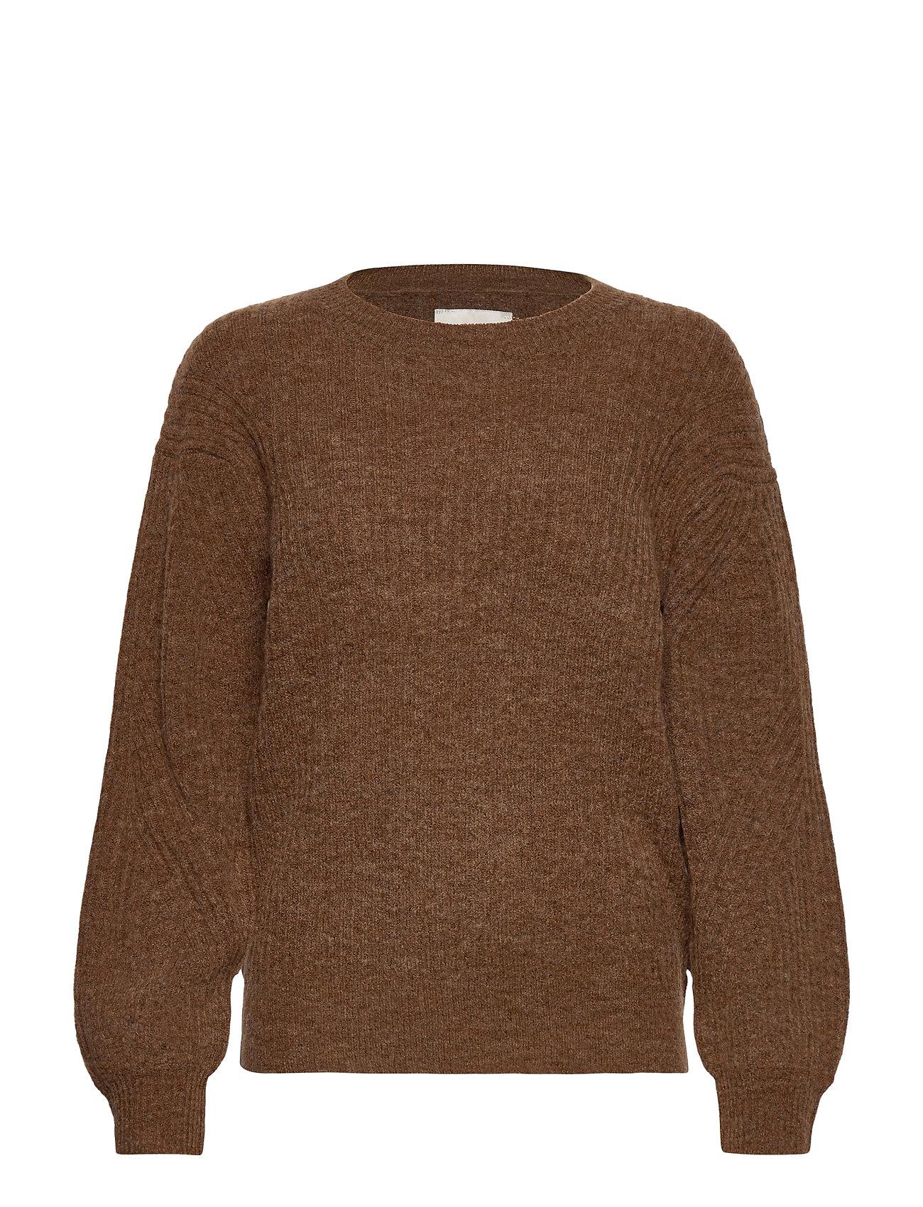 Image of Pzastrid Pullover Strikket Trøje Brun Pulz Jeans (3455967787)