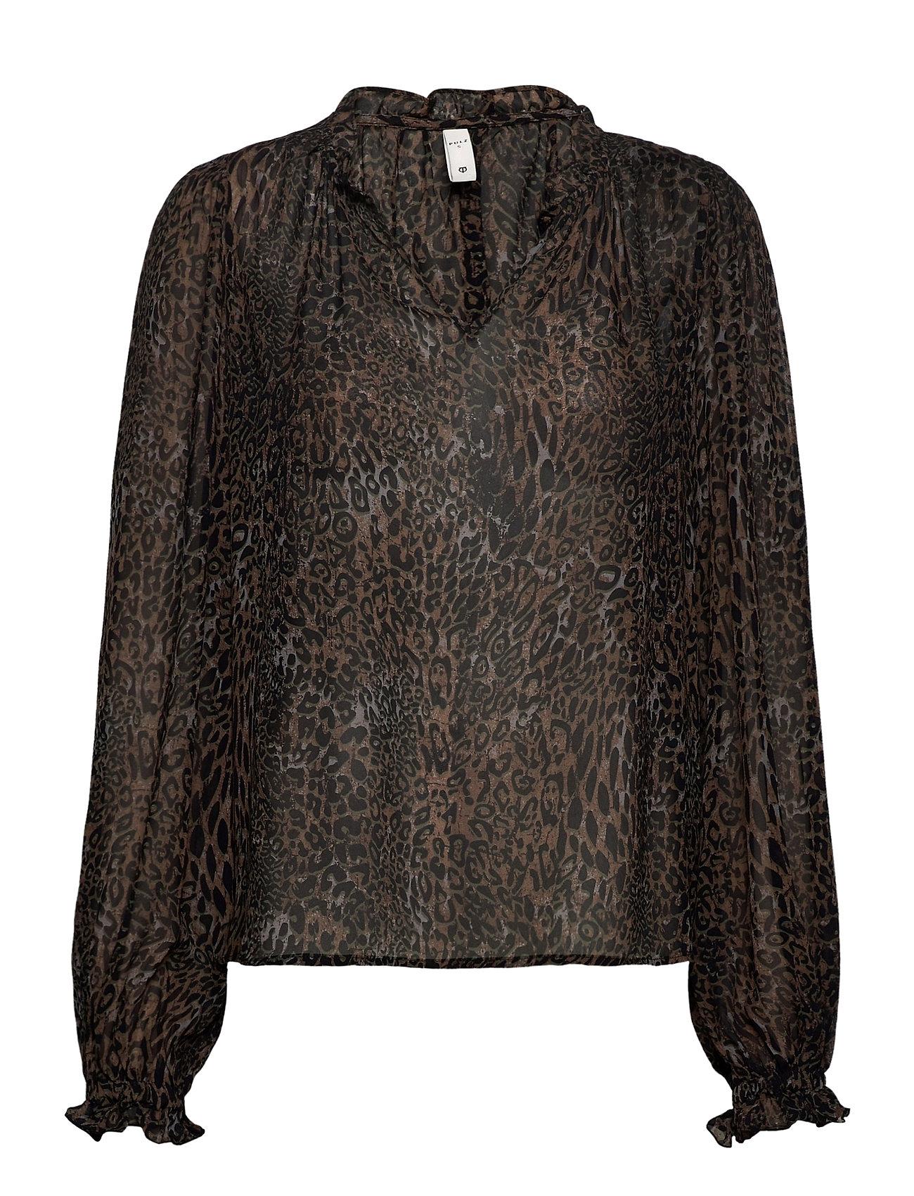 Image of Pzamaya Blouse Premium Quality Bluse Langærmet Sort Pulz Jeans (3490303767)