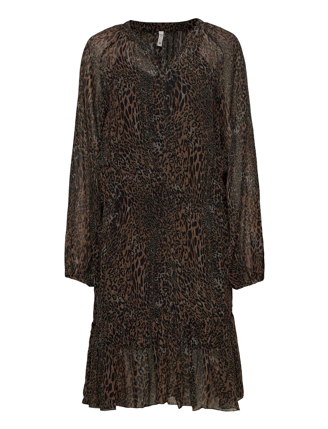 Image of Pzamaya Dress Premium Quality Knælang Kjole Sort Pulz Jeans (3455222989)