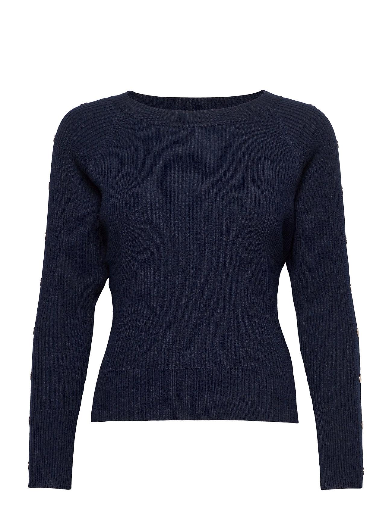 Image of Pzsara Pullover Strikket Trøje Blå Pulz Jeans (3445309499)