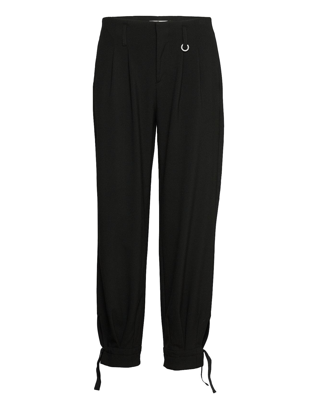 Image of Pzadriana Pant Premium Quality Bukser Med Lige Ben Sort Pulz Jeans (3444844999)