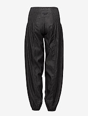 Pulz Jeans - Jill wide denim pant - casual bukser - black solid - 1