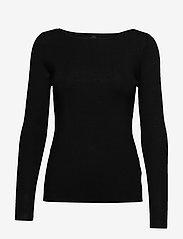 Pulz Jeans - PZSARA Boatneck Pullover - trøjer - black - 0