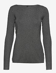 Pulz Jeans - PZSARA Boatneck Pullover - trøjer - medium grey melange - 0