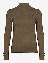 Pulz Jeans - PZSARA Turtleneck - rullekraver - stone gray melange - 0